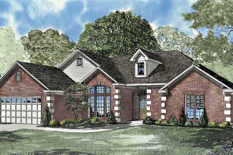 Dream House Plan - Ranch Exterior - Front Elevation Plan #17-3121