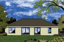 House Plan Design - European Exterior - Rear Elevation Plan #417-847
