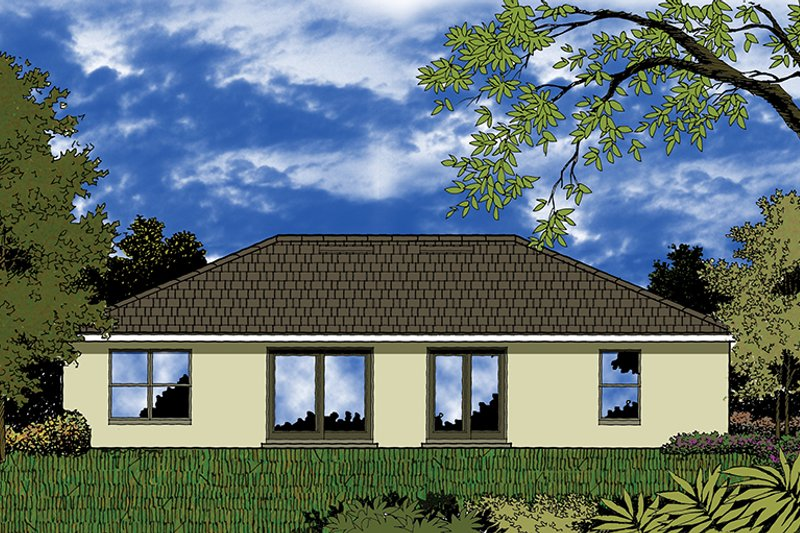 European Exterior - Rear Elevation Plan #417-847 - Houseplans.com
