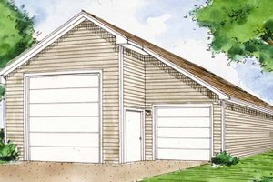 Exterior - Front Elevation Plan #410-3599