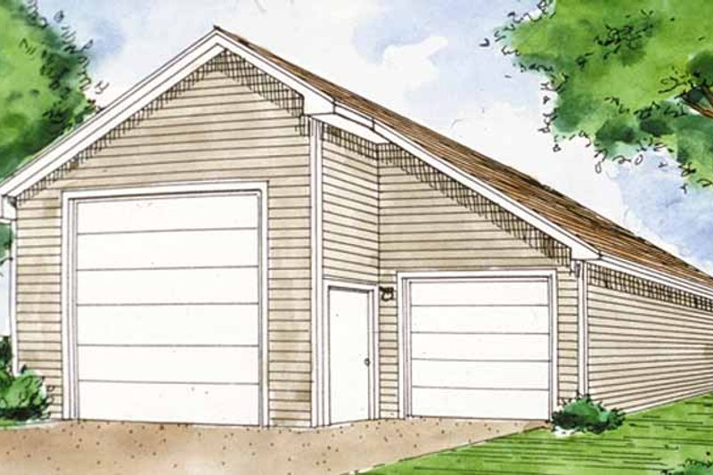 Exterior - Front Elevation Plan #410-3599 - Houseplans.com