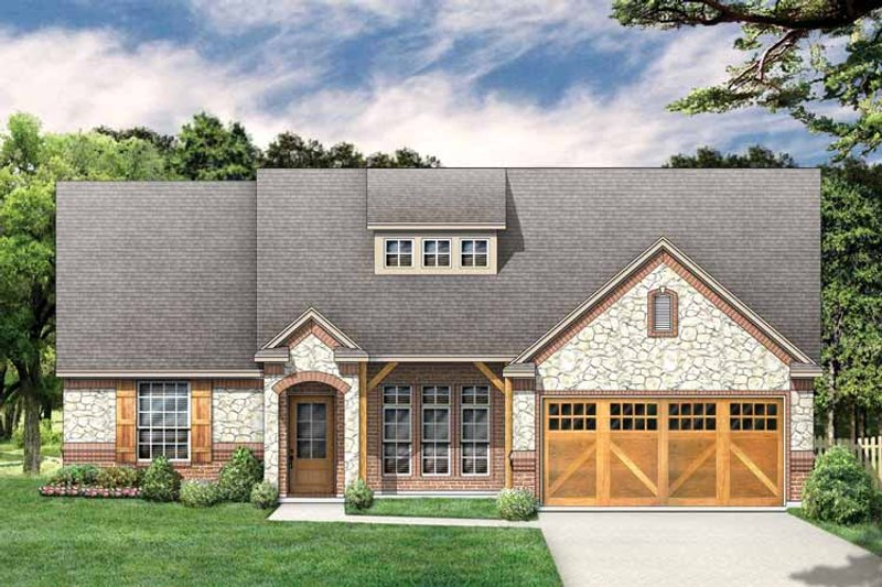 Country Exterior - Front Elevation Plan #84-652