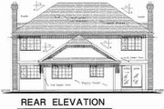 Traditional Style House Plan - 4 Beds 2.5 Baths 2416 Sq/Ft Plan #18-8956 Exterior - Rear Elevation