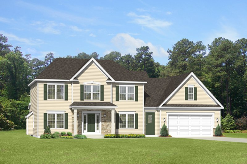 Colonial Exterior - Front Elevation Plan #1010-90 - Houseplans.com