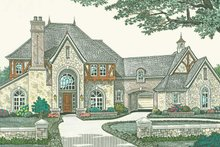 Home Plan - European Exterior - Front Elevation Plan #310-1187