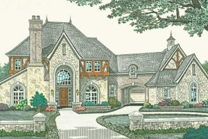 European Exterior - Front Elevation Plan #310-1187