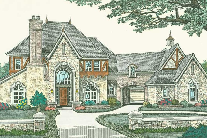 Architectural House Design - European Exterior - Front Elevation Plan #310-1187