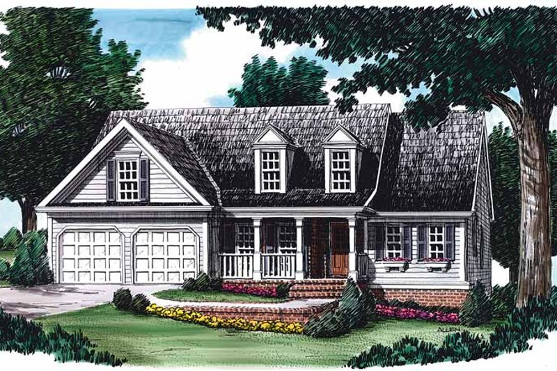 Country Exterior - Front Elevation Plan #927-78