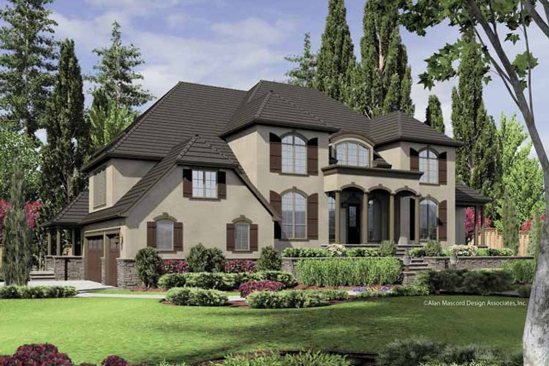 Dream House Plan - European Exterior - Front Elevation Plan #48-851