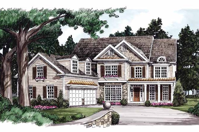Colonial Exterior - Front Elevation Plan #927-776