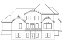 Home Plan - European Exterior - Rear Elevation Plan #419-270
