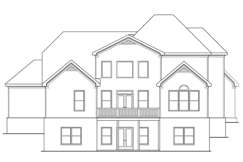 European Exterior - Rear Elevation Plan #419-270 - Houseplans.com