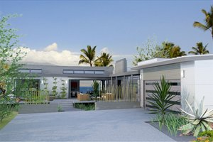 Contemporary Exterior - Front Elevation Plan #484-12