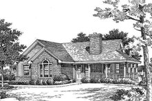Dream House Plan - Country Exterior - Front Elevation Plan #57-188