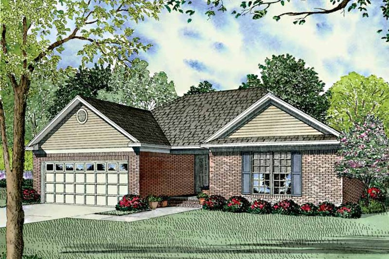 Dream House Plan - Ranch Exterior - Front Elevation Plan #17-3124