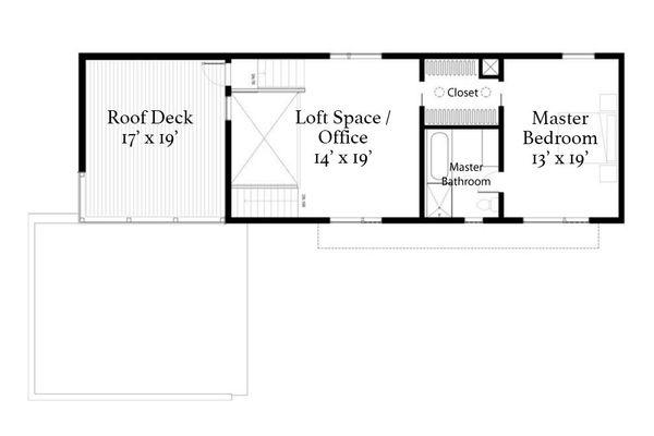 Modern Floor Plan - Upper Floor Plan Plan #497-22