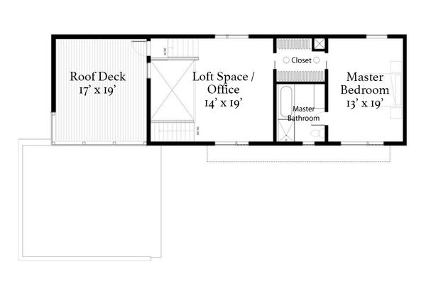 Modern Floor Plan - Upper Floor Plan Plan #497-22