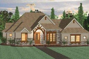 Prairie Exterior - Front Elevation Plan #937-29