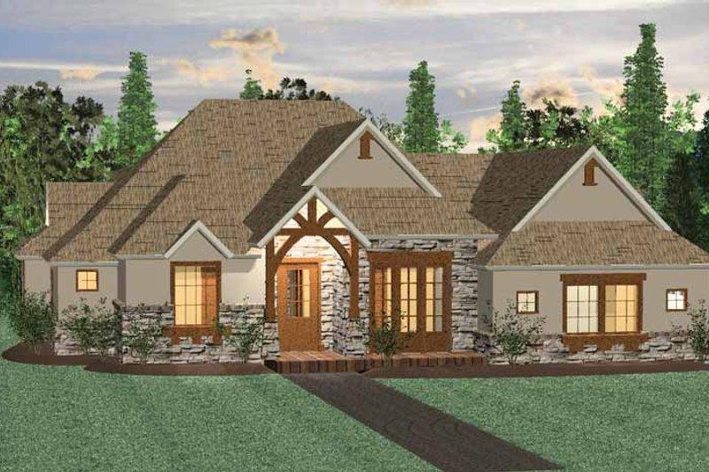 Architectural House Design - Prairie Exterior - Front Elevation Plan #937-29