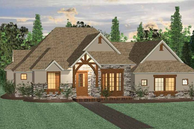 Prairie Exterior - Front Elevation Plan #937-29
