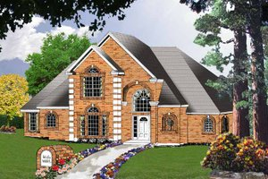 European Exterior - Front Elevation Plan #40-450