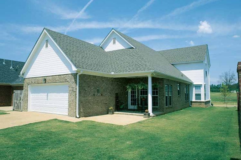 Classical Exterior - Rear Elevation Plan #17-2665 - Houseplans.com