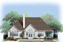 House Plan Design - Ranch Exterior - Rear Elevation Plan #929-582