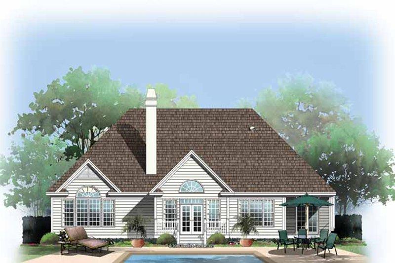 Ranch Exterior - Rear Elevation Plan #929-582 - Houseplans.com