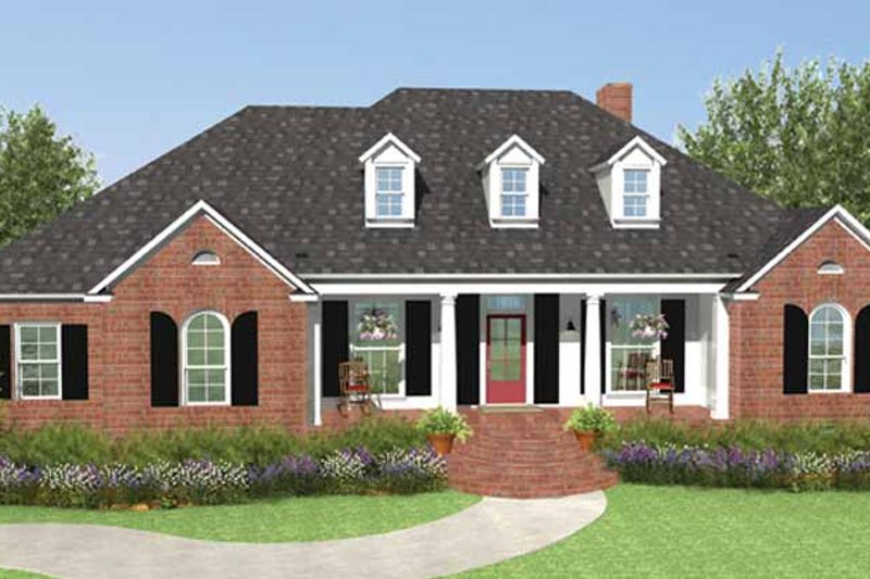 Country Exterior - Front Elevation Plan #406-9629 - Houseplans.com