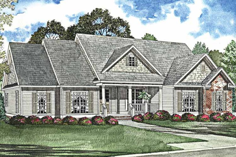 Country Exterior - Front Elevation Plan #17-3020 - Houseplans.com