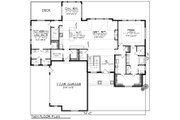 Ranch Style House Plan - 2 Beds 2.5 Baths 2598 Sq/Ft Plan #70-1175 Floor Plan - Main Floor Plan