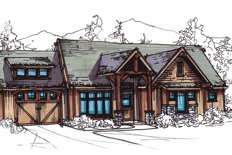Craftsman Exterior - Front Elevation Plan #17-2817