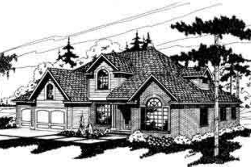 Dream House Plan - Traditional Exterior - Front Elevation Plan #124-115