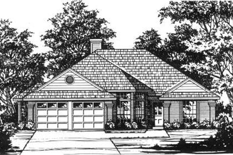Traditional Exterior - Front Elevation Plan #40-407