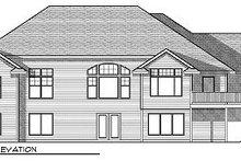 Home Plan - European Exterior - Rear Elevation Plan #70-874