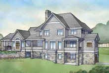 Craftsman Exterior - Rear Elevation Plan #928-173