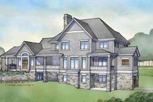 Craftsman Exterior - Rear Elevation Plan #928-173