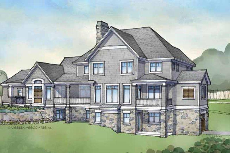 Architectural House Design - Craftsman Exterior - Rear Elevation Plan #928-173