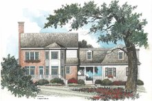 Home Plan - Colonial Exterior - Rear Elevation Plan #429-92