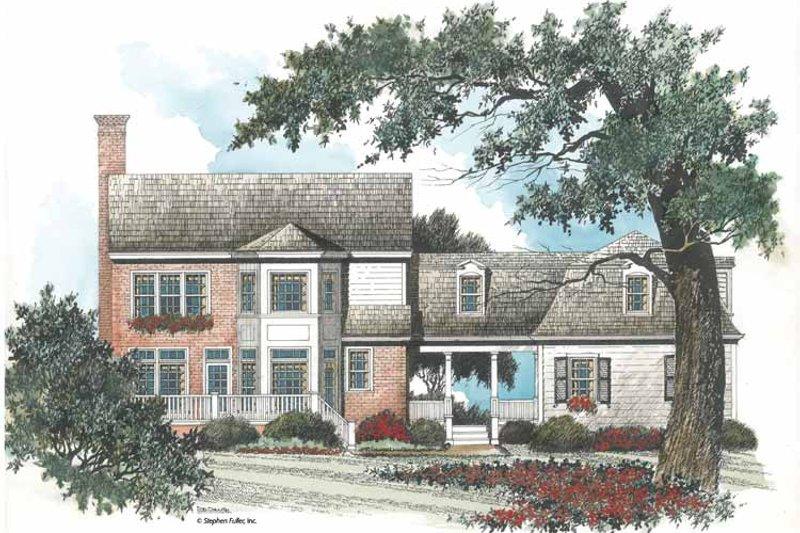 Colonial Exterior - Rear Elevation Plan #429-92 - Houseplans.com