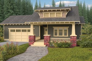 Dream House Plan - Craftsman Exterior - Front Elevation Plan #895-65