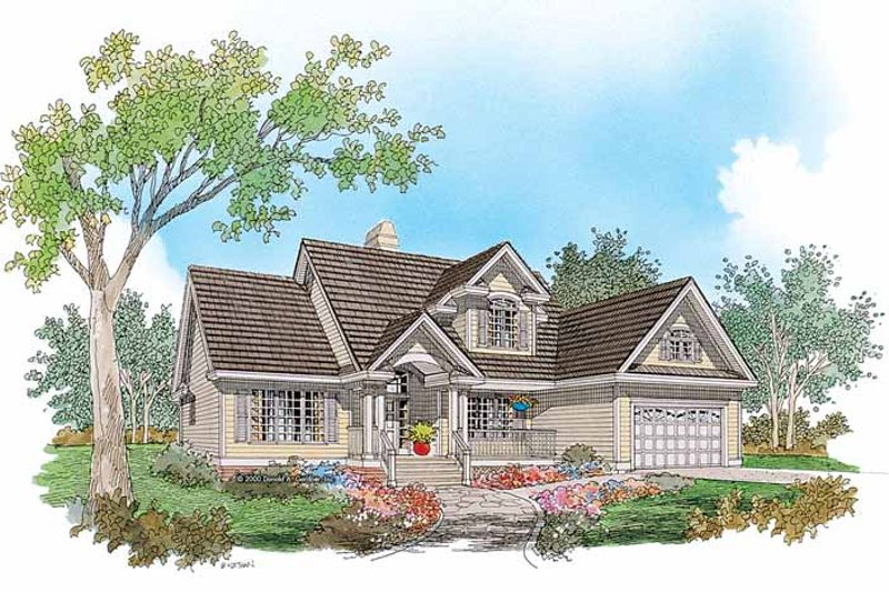 Country Exterior - Front Elevation Plan #929-653
