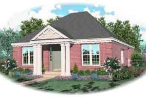 Colonial Exterior - Front Elevation Plan #81-551