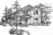 Traditional Style House Plan - 3 Beds 2.5 Baths 1667 Sq/Ft Plan #78-105 Exterior - Front Elevation