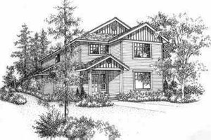Traditional Exterior - Front Elevation Plan #78-105