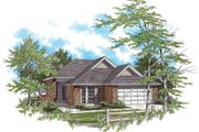 Ranch Style House Plan - 3 Beds 2 Baths 1295 Sq/Ft Plan #48-583