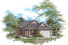 Ranch Exterior - Front Elevation Plan #48-583