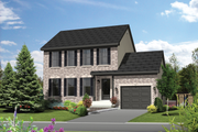 Colonial Style House Plan - 3 Beds 1 Baths 1363 Sq/Ft Plan #25-4871 Exterior - Front Elevation