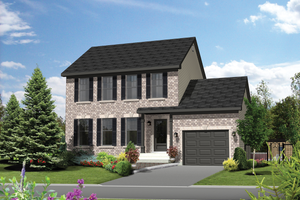 Colonial Exterior - Front Elevation Plan #25-4871