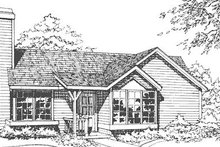 Dream House Plan - Traditional Exterior - Front Elevation Plan #320-103